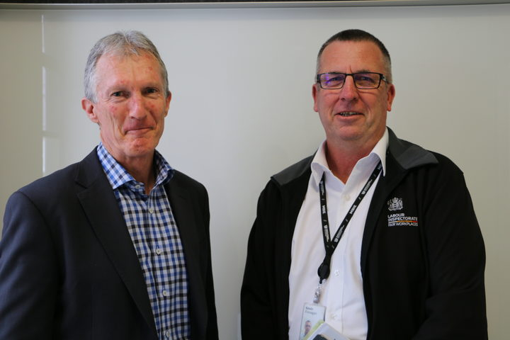 Peter Devoy (Immigration NZ) and Kevin Finnegan (Labour Inspectorate)
