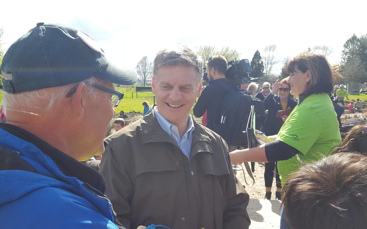 National Party leader Bill English campaigning in Reporoa.