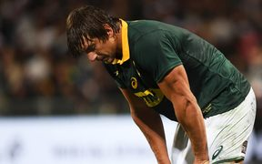 Eben Etzebeth shows his disappointment during the Rugby Championship test match rugby union.