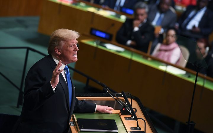 "US President Donald Trump addresses UN General Assembly, saying America would ""totally destroy"" North Korea if forced to defend itself or its allies."