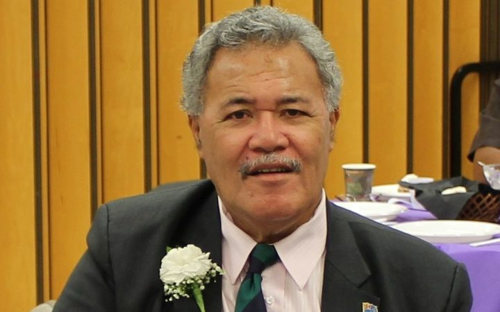 Tuvalu prime minister Enele Sopoaga advancing his country's climate concerns  in New York.