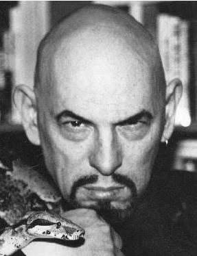 A picture of Anton LaVey, founder of the Satanic Church who plagiarised Might is Right when he wrote The Satanic Bible