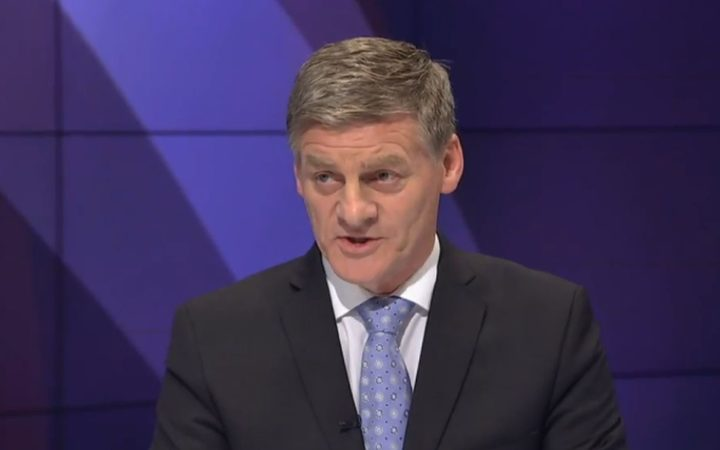 Bill English in the second TVNZ debate.