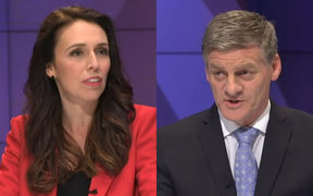 Jacinda Ardern and Bill English.