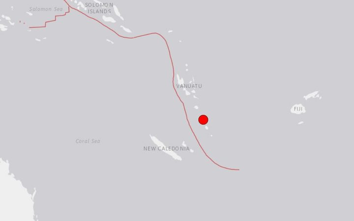 The USGS said the quake was centred 85km north-north-westof Isangel, Vanuatu.