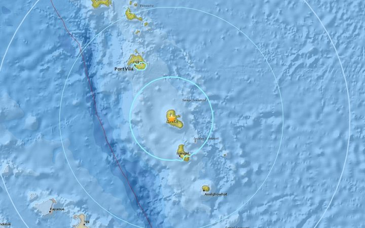 A 6.4 magnitude earthquake has hit Vanuatu, 85km northwest of Isangel, the US Geological Survey says.
