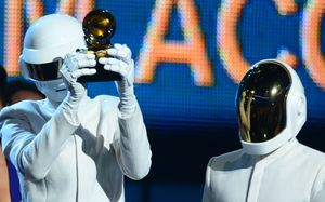 Daft Punk members Thomas Bangalter and Guy-Manuel de Homem-Christo never appear in public without their helmets. They won five Grammys.