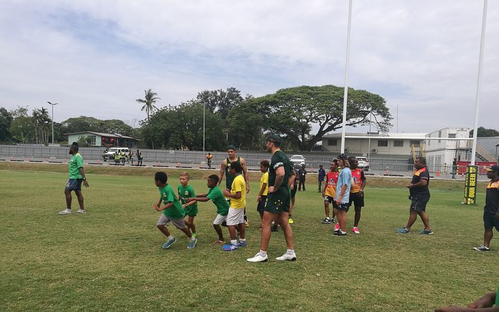 The Australian PM's 13 have also conducted coaching clinics during their time in Port Moresby.