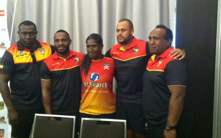 The PNG Orchids and PM's 13 coach and captains.