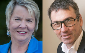 National's Nicky Wagner, left, and Labour's Duncan Webb
