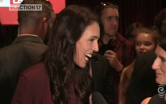 Jacinda Ardern positive despite National taking lead