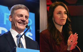 Bill English and Jacinda Ardern.