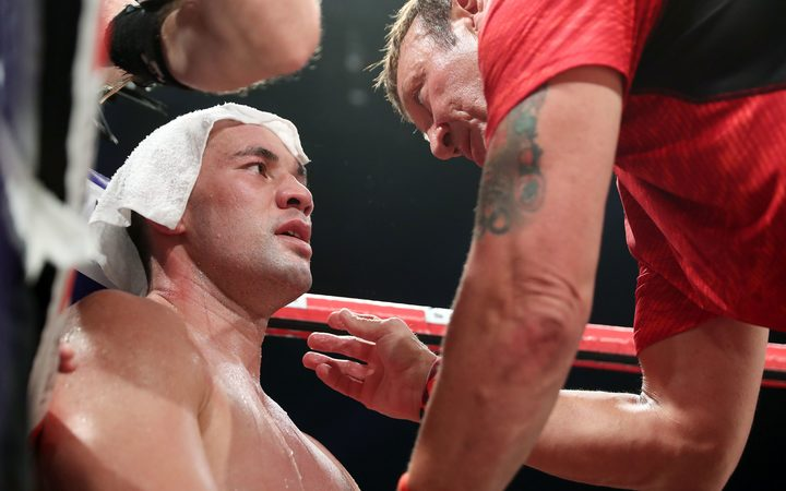 Joseph Parker with trainer Kevin Barry