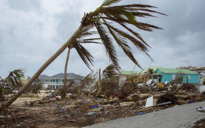 Tahiti politician inspects Irma's destruction