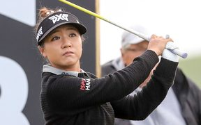 New Zealand's Lydia Ko competing in the pro-am event ahead of the New Zealand Women's Golf Open at Windross Farm.