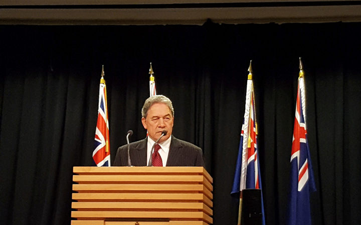 New Zealand First leader Winston Peters in his last press conference last week where he harangued journalists about the election coverage. Photo / Chris Bramwell