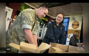 Christmas parcels packed for overseas troops