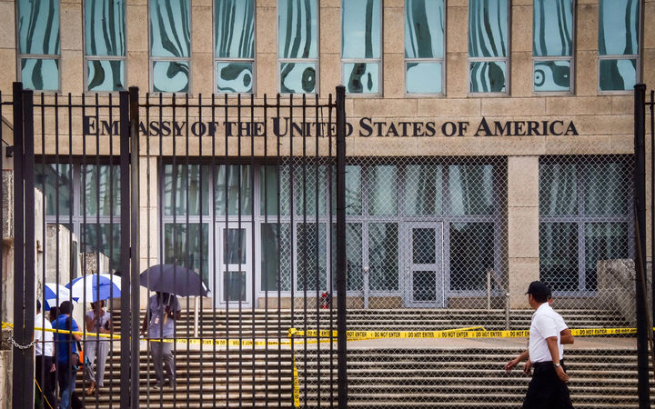 More than half the staff at the US embassy in Havana, Cuba, have been withdrawn
