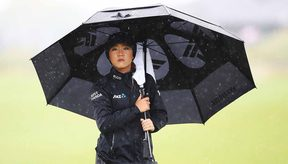 A frustrated Lydia Ko at the weather disrupted NZ Women's Open