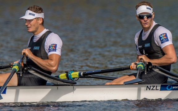 The men's double scull of Chris Harris and John Storey were among New Zealand's gold medal winners in Florida.