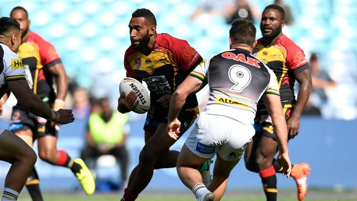 The PNG Hunters were no match for the Penrith Panthers.