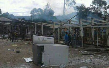 Papua New Guinea's town of Mendi is in a state of chaos after supporters of the main losing election candidate for the Southern Highlands regional seat went on a rampage and destroyed various offices.