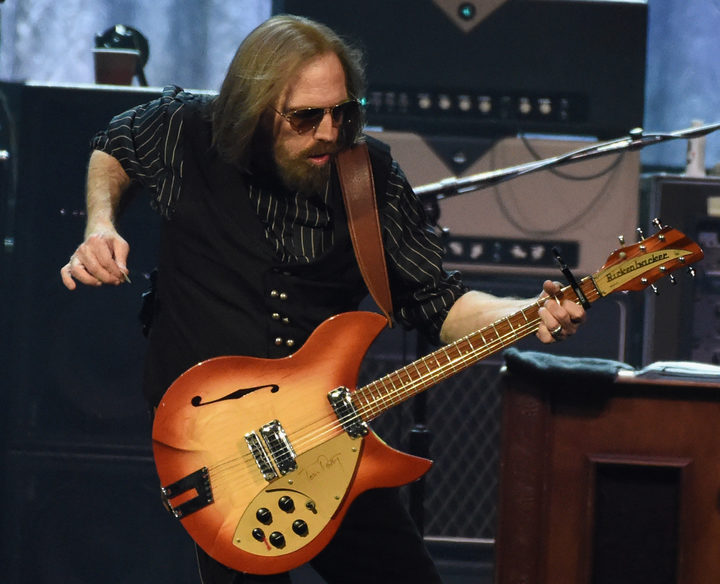Tom Petty performing in Nashville, Tennessee in April during the Tom Petty and the Heartbreakers 40th anniversary tour