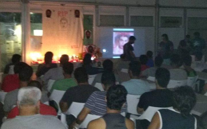 Manus Island detainees hold a service for Rajeev Rajendran.