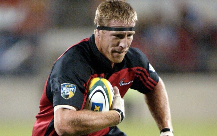 Brad Thorn in full flight for the Cruaders.