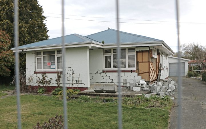 A damaged home in Waiau.