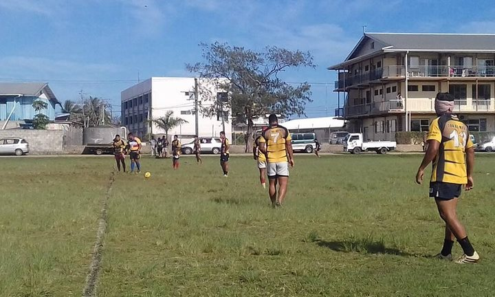 The inaugural Kingdom 7s in underway in Nuku'alofa.
