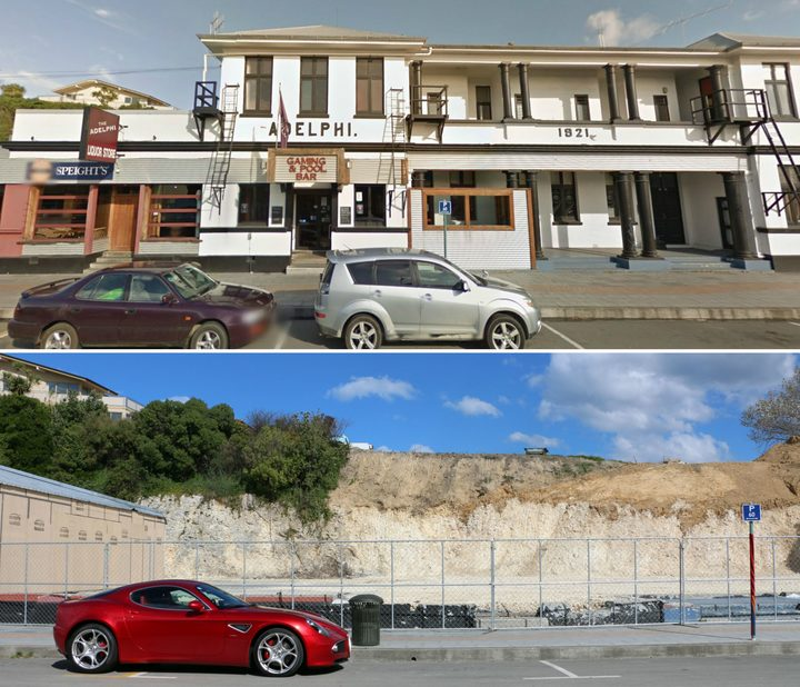 The Adelphi - A historic pub and hotel on Kaikoura's West End has now been demolished.