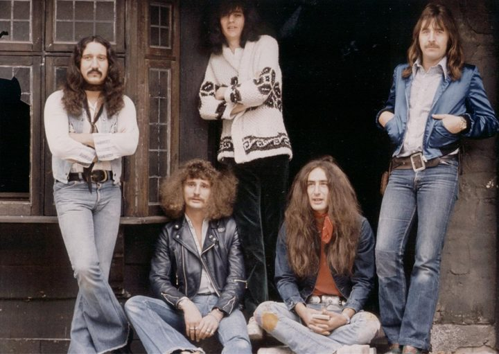 Uriah Heep 1973: From left to right Mick Box, David Byron, Gary Thain, Ken Hensley, Lee Kerslake.