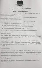 Information about West Lorengau Haus posted in the Manus Island detention centre.