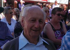 Earthquake survivor George Foulds attended the ceremony.