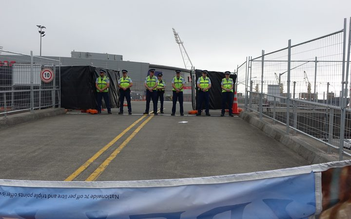 Police prepare for any tension between protesters and delegates.