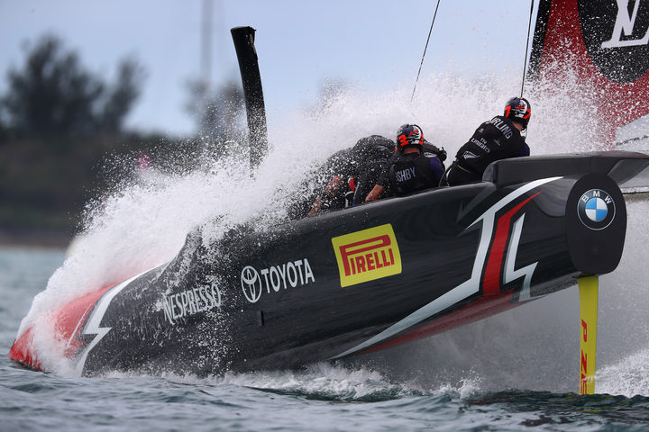 Emirates Team New Zealand in action on 24 June, 2017.