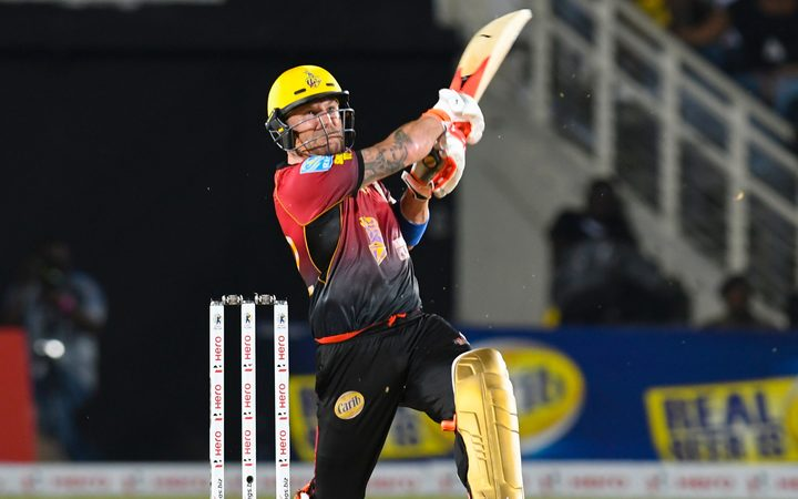 Brendon McCullum of Trinbago Knight Riders in the 2017 Caribbean Premier League.