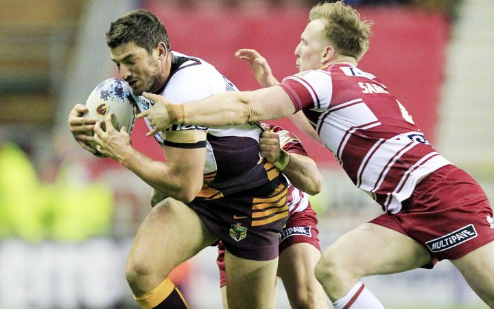 Matt Gillett in action for the Brisbane Broncos