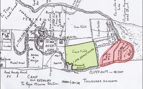 A military sketch plan from 1864 shows