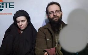 File video screenshot of Joshua Boyle and Caitlan Coleman while in captivity.