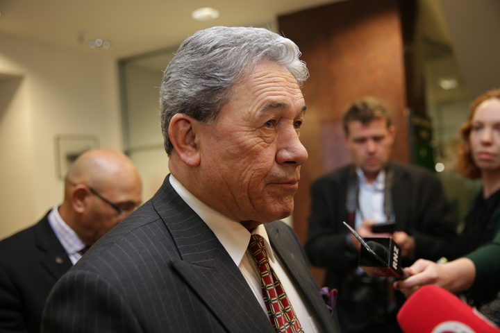 New Zealand First leader Winston Peters