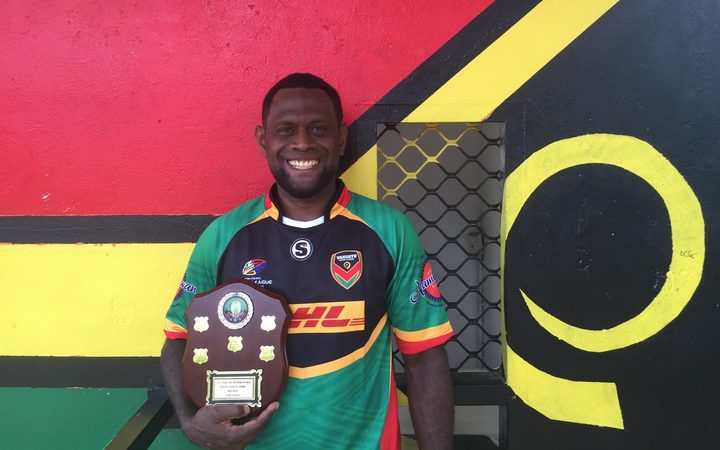 Vanuatu rugby league player Jason Pakoasongi.