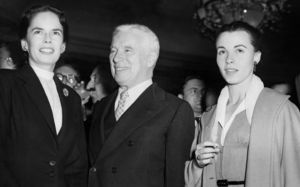 Charlie Chaplin, his wife Oona (left) and ''Limelight'' actress Claire Bloom in London.