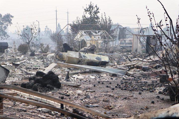 California disaster: NZer records wildfire wasteland