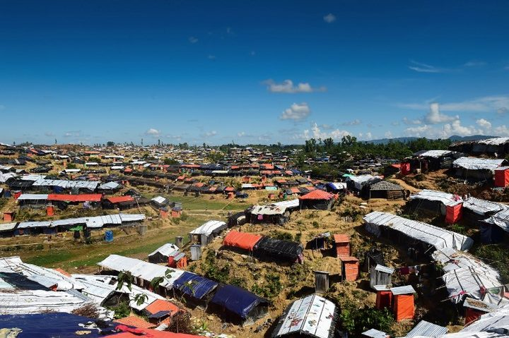 A view of the Balukhali refugee camp in the Bangladeshi district of Ukhia.