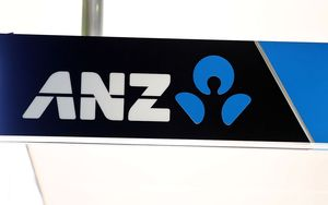 ANZ bank logo.