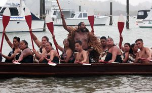 Not as many waka crews took part in the  festivities.