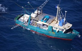 The trawler 'Dianne' which capsized off Australia's east coast on Monday.