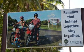 Public safety campaign sign in Cook Islands